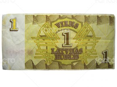 Temporary currency of Latvija. One Latvijas rublis