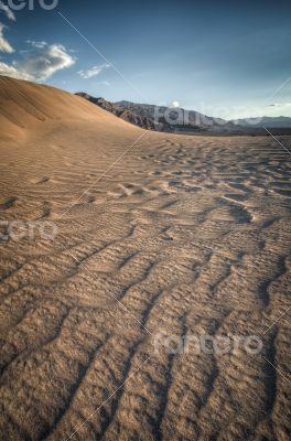 sand dune look like a wave in Death Valley