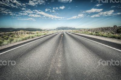 Death Valley Highway to nevada