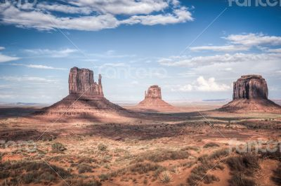 Monument valley in high dynamic range