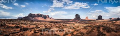 Monument valley panoramic view