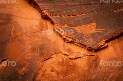 Monument Valley rock painting texture