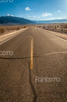 Death Valley street to nowhere