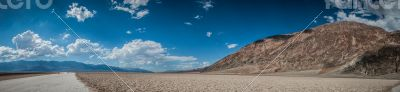 Death Valley panorama bad water basin