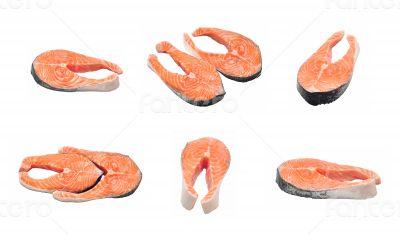 raw salmon collage