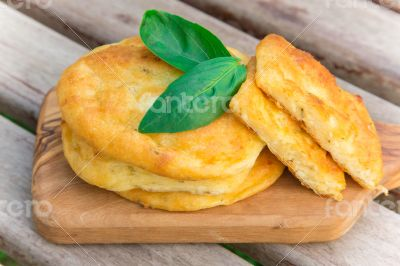 Salty cottage cheese pancakes