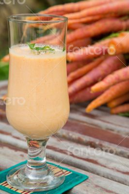 A glass of carrot smoothie