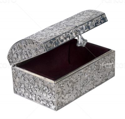 Antique Silver Embossed Chest