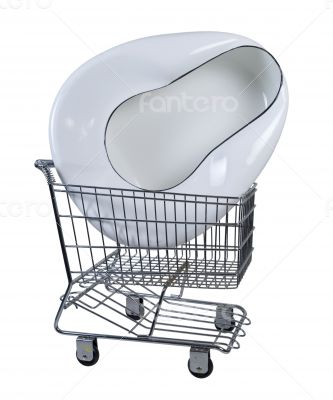 Bed Pan in Shopping Cart