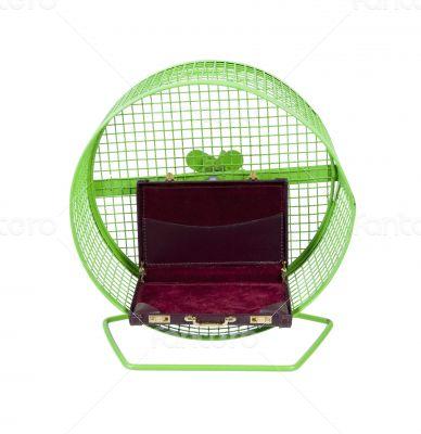 Briefcase in Exercise Wheel
