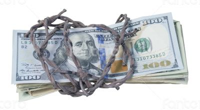 Money Wrapped in Barbed Wire