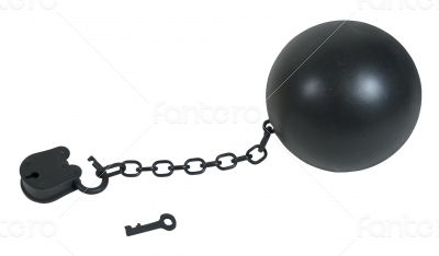 Padlock and Ball and Chain