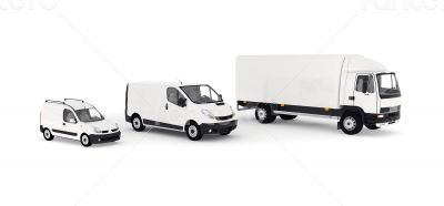 Transport service vechicules - lorry and delivery cars