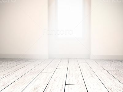 illuminated interior background with depth of field