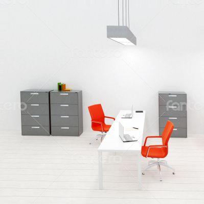 Interior of small modern office