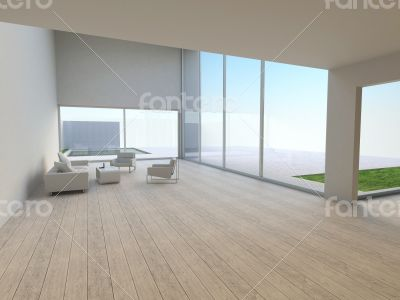 Interior of modern living-room