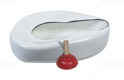 Plunger with Bed Pan
