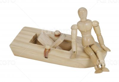 Relaxing on a Rubberband Powered Boat