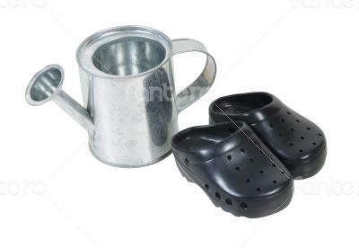 Watering Can and Gardening Shoes
