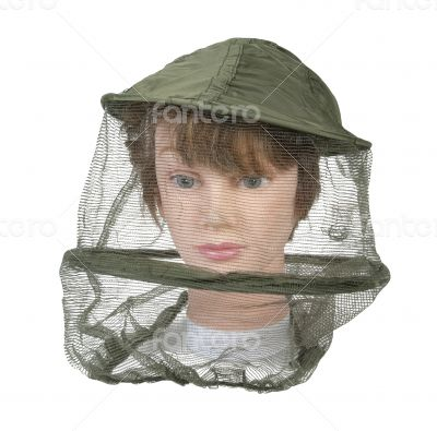 Wearing Bee Keeper Hat