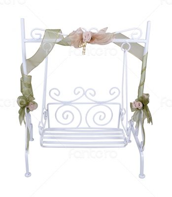 White Garden Swing for relaxing outdoors