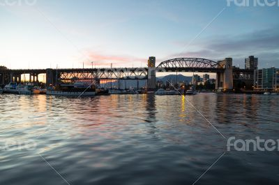 The Burrard Street Bridge Of Vancouver