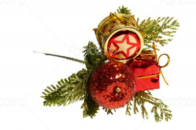 Decorations for Christmas and New Year holidays. Isolated.