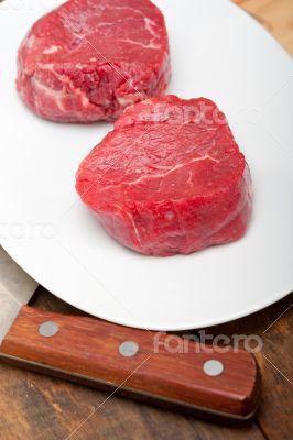 raw beef filet mignon