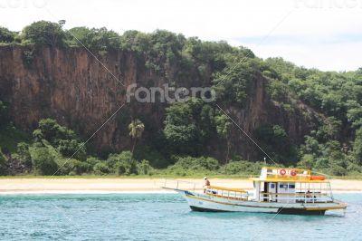 A boat at Fernando de Noronha, Brazil