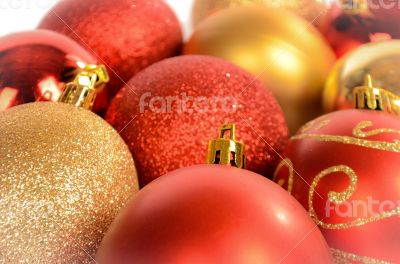Christmas Baubles Close-up