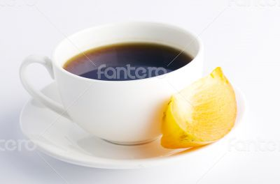 Herbal and fruit teas over white background