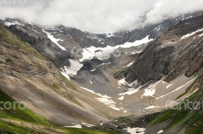 valley surrounded by peaks
