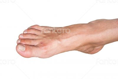 Male bare foot