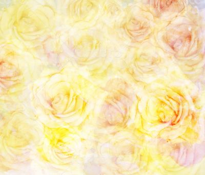 Scenic abstract floral background with roses