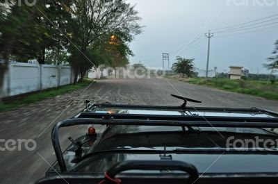 willys jeep bonnet view