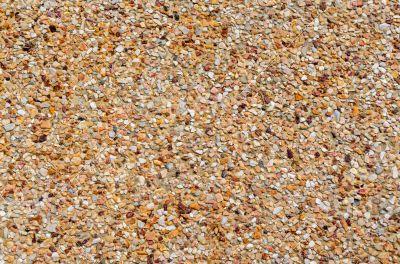 Anti-slip floors are made of smaller stone
