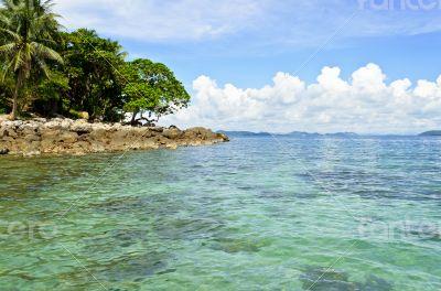 Landscape sea and island
