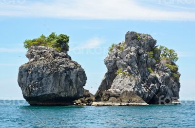 Small Island in the sea for diving