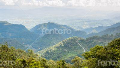 Viewpoint Doi Ang Khang mountains