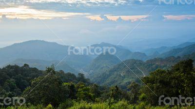 Sunrise at Doi Ang Khang in Chiang Mai province of Thailand