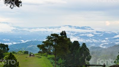Peak for stunning views of mountains clouds and fog