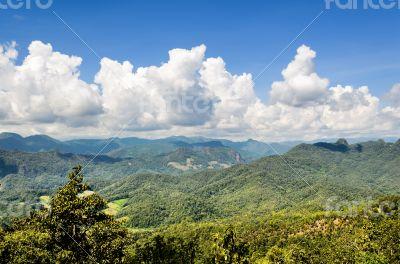 Landscape high mountain range