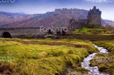 Castle of Ellian Donel in the Highlands