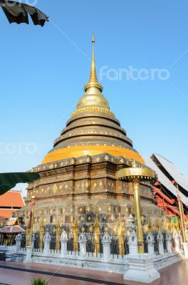 Ancient pagodas at Wat Phra That Lampang Luang temple