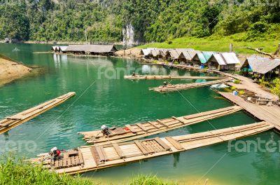 Motor raft wharf.