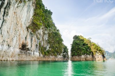 Beautiful island and green lake ( Guilin of Thailand )