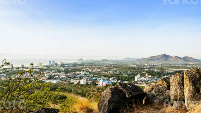 Landscape Hua Hin city in the morning