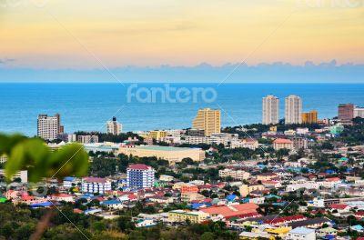 Beautiful landscaped of Hua Hin city
