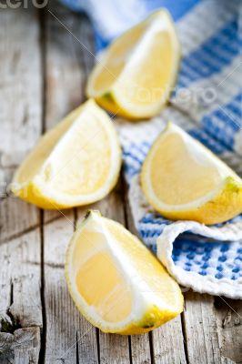 fresh juicy sliced lemon