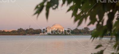 Thomas Jefferson Memorial in D.C. over Tidal Basin